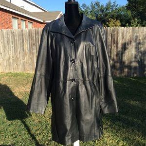 Fabulous Condition, Genuine Black Leather Coat